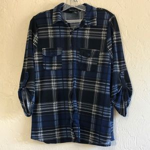 French Laundry Plaid Button Up